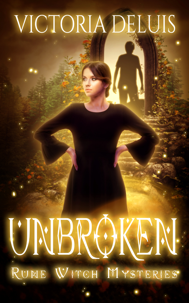 book cover for Rune Witch Mysteries book 4 - Unbroken by Victoria DeLuis