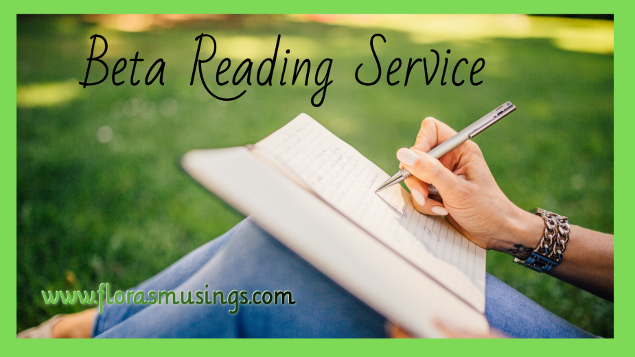 graphic for Beta Reading Service from Flora's Musings