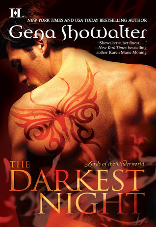 book cover for Lords of the Underworld 1 - Darkest Night by Gena Showalter