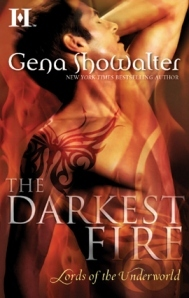 book cover for Lords of the Underworld 0.5 - Darkest Fire by Gena Showalter