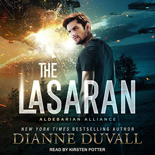 audiobook cover of The Lasaran by Dianne Duvall narrated by Kirsten Potter