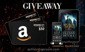 Immortal Guardians 10 - Broken Dawn - Dianne Duvall Giveaway Graphic