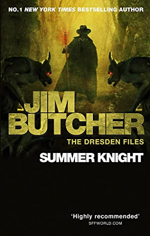 book cover for The Dresden Files book 4 - Summer Knight by Jim Butcher