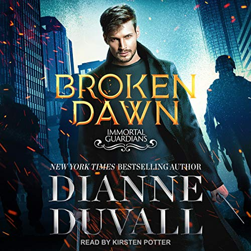 audiobook cover for Broken Dawn by Dianne Duvall Narrated by Kirsten Potter