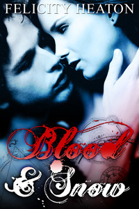 book cover for Blood and Snow by Felicity Heaton