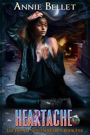 book cover for Twenty-Sided Sorceress 5 - Heartache by Annie Bellet