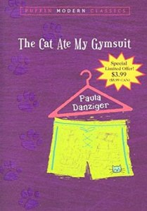 book cover for  The Cat Ate My Gymsuit by Paula Danziger