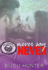book cover for Never Say Never by Bijou Hunter