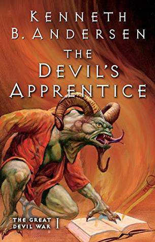book cover for The Great Devil War 1 - The Devils Apprentice by Kenneth B. Anderson