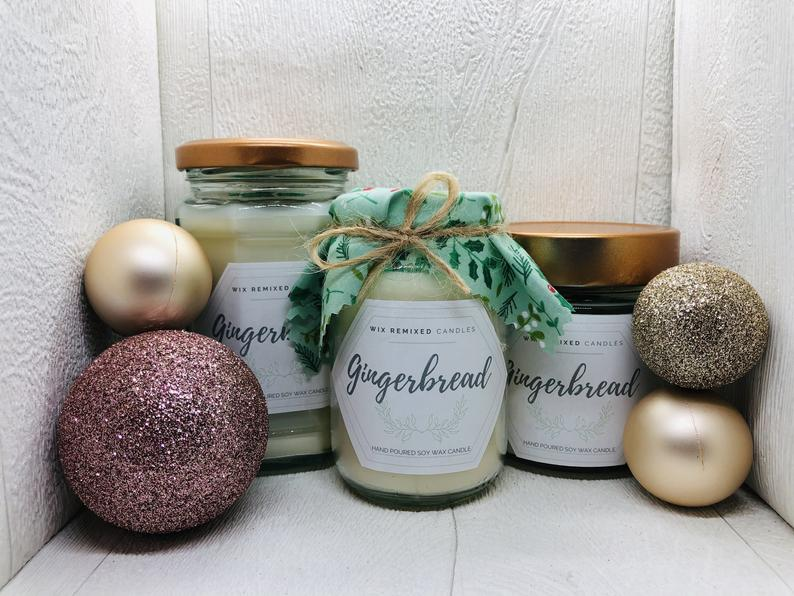 image for Gingerbread Soy Candle by WixRemixed on Etsy 6.45