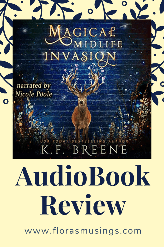 Pinterest Pin - AudioBook Review - Leveling Up 3 - Magical Midlife Invasion by K. F. Breene - Narrated by Nicole Poole (2)