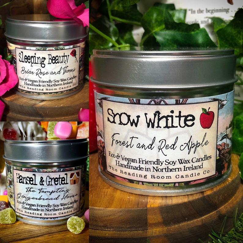 The Fairytale Collection - Grimm's Fairytale Inspired Soy Wax Candles from ReadingRoomCandleCo
