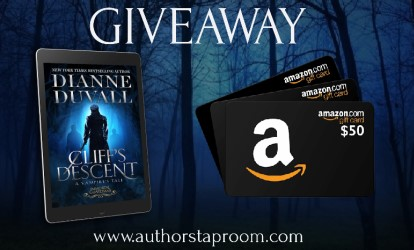 Blog Tour GiveAway Graphic - Immortal Guardians 11 - Cliff's Descent by Dianne Duvall