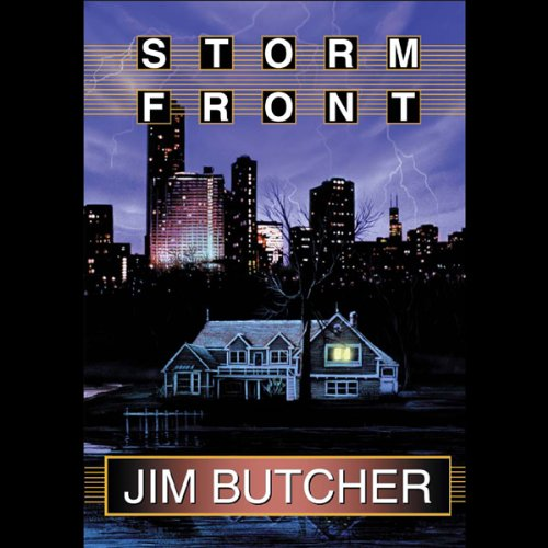 audiobook cover for The Dresden Files 1 - Storm Front by Jim Butcher - Read by James Marsters