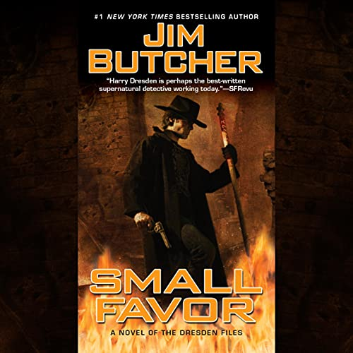 audiobook cover for The Dresden Files 10 - Small Favor by Jim Butcher - Read by James Marsters