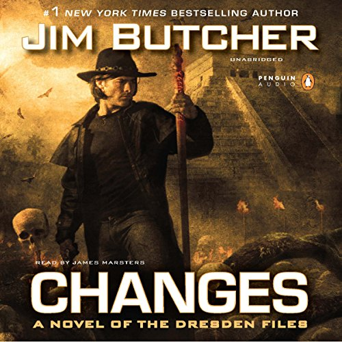 audiobook cover for The Dresden Files 12 - Changes by Jim Butcher - Read by James Marsters