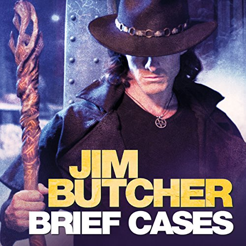 audiobook cover for The Dresden Files 15.5 - Brief Cases by Jim Butcher - Read by James Marsters