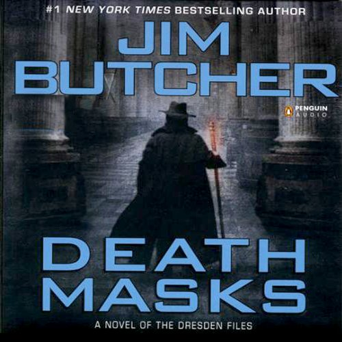 audiobook cover for The Dresden Files 5 - Death Masks by Jim Butcher - Read by James Marsters