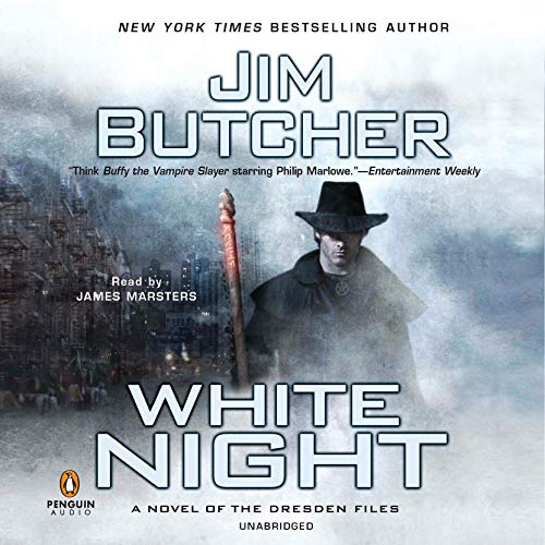 audiobook cover for The Dresden Files 9 - White Night by Jim Butcher - Read by James Marsters