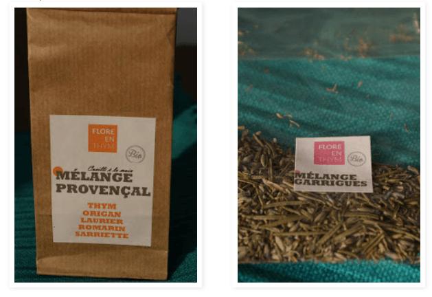 mélange de plantes aromatiques sauvages