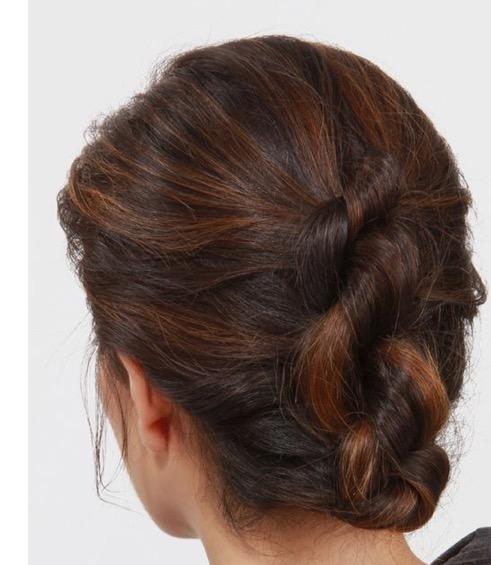 chignon effet torsade Florence coiffure à domicile