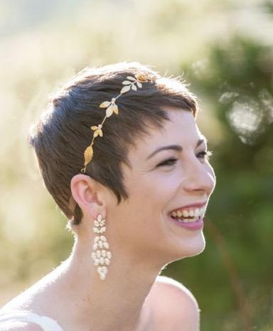 coiffure de mariée,  cheveux court florence coiffure