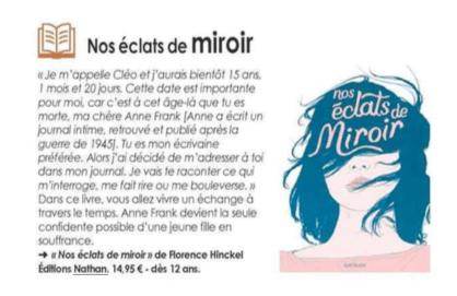 Nos éclats de miroir Florence Hinckel Journal des Enfants