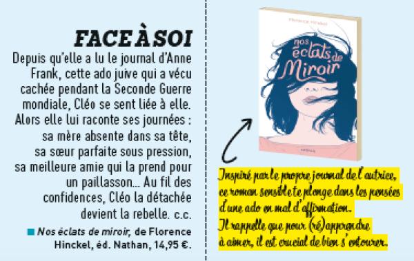 Nos éclats de miroir Florence Hinckel Le Monde des ados