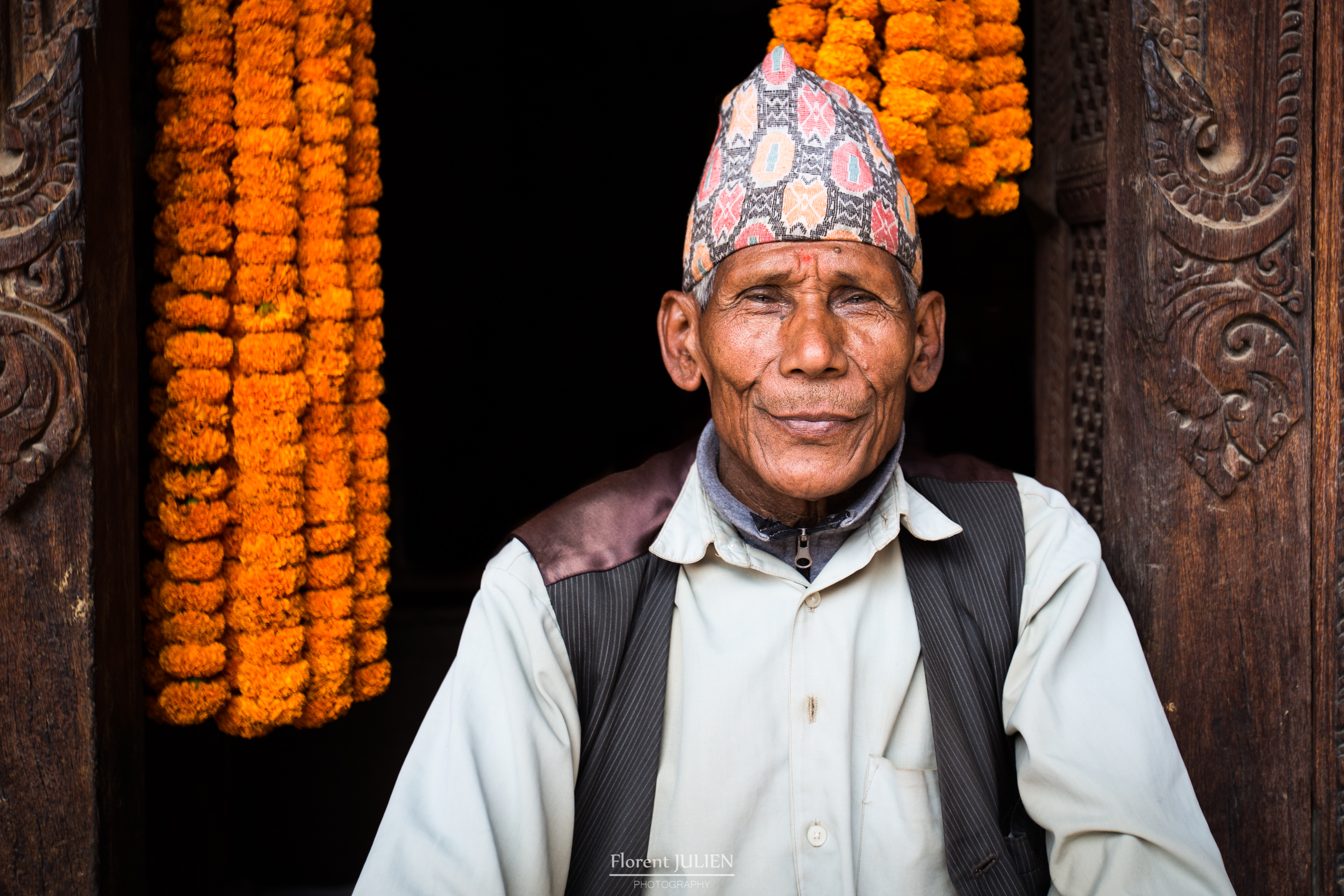 An old man in Patan