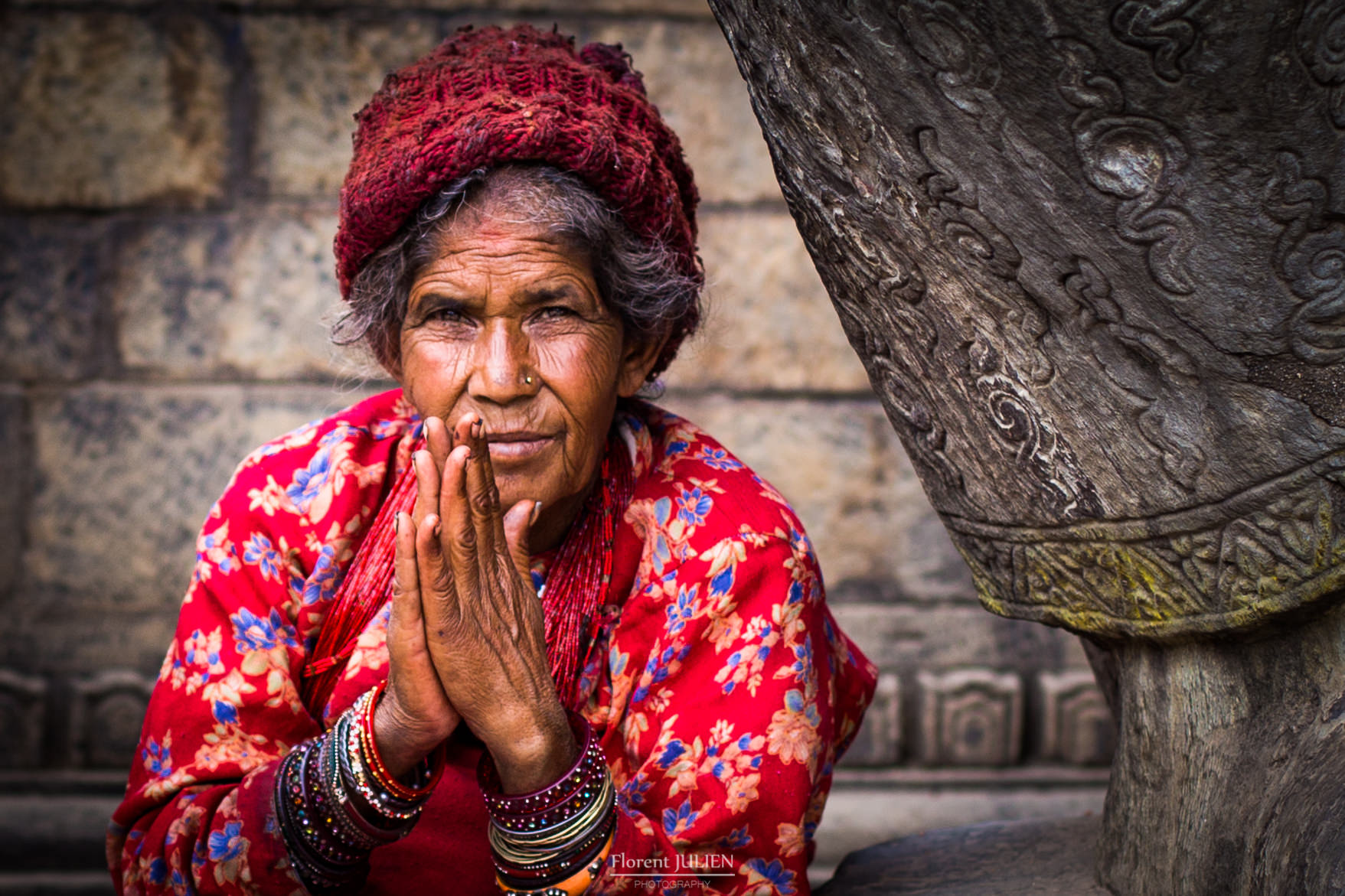 An old lady in Bhaktapur