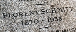 Florent Schmitt gravestone inscription