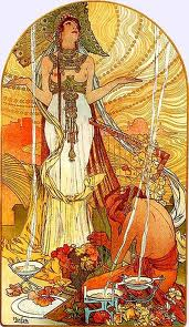 Salammbo (illustration by Alfons Mucha, 1896)