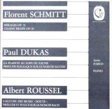 Schmitt Dukas Roussel d'Arco Calliope