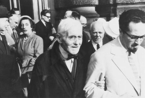 Florent Schmitt with Felix Aprahamian, Strasbourg, France 1958