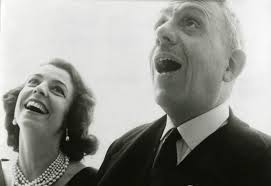 """Francis Poulenc and his """"feminine ideal,"""" the soprano Denise Duval."""