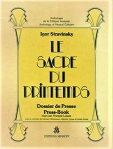 Stravinsky Le Sacre du printemps press book