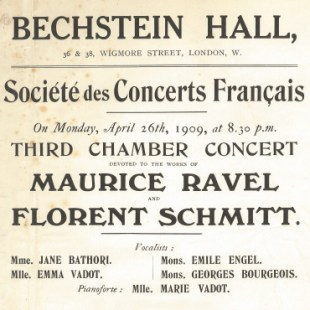 Wigmore Hall Schmitt Ravel 1909