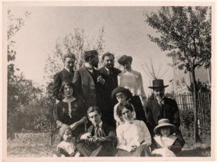 Florent Schmitt and family 1910