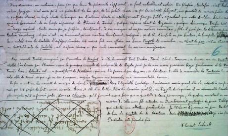 Florent Schmitt manuscript music writings