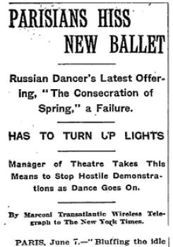 New York Times Le Sacre du printemps
