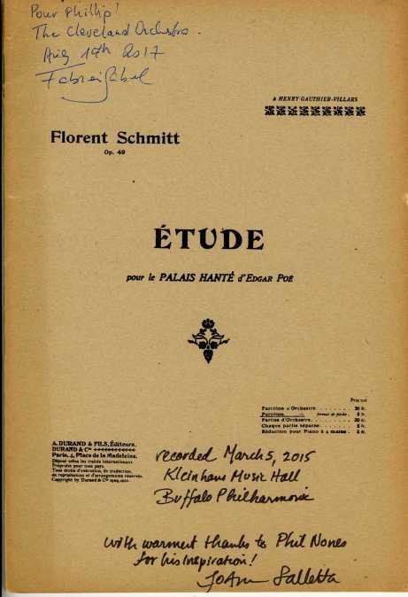 Florent Schmitt The Haunted Palace score Falletta Gabel