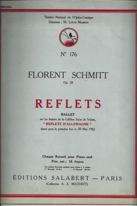 Florent Schmitt Reflets score