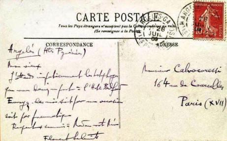 Florent Schmitt Michel-Dimitri Calvocoressi 1909