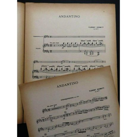 Florent Schmitt Andantino trumpet version