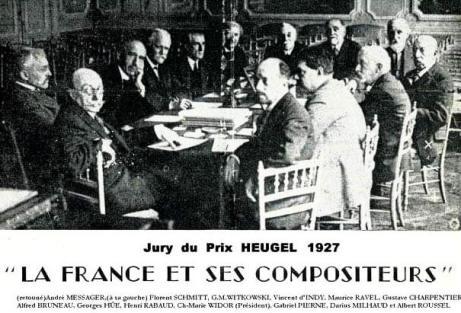 Prix Heugel Jury 1927