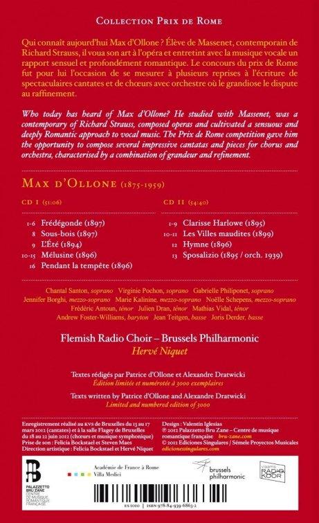 Max d'Ollone Prix de Rome cantatas PBZ Niquet