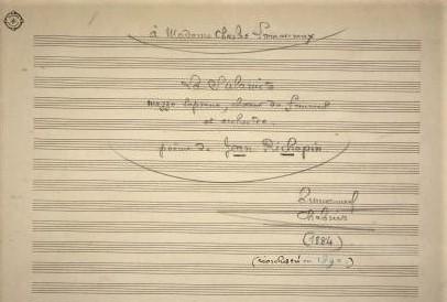 Emmanual Chabrier La Sulamite score dedication