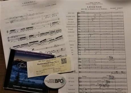 Florent Schmitt Legende score violin version