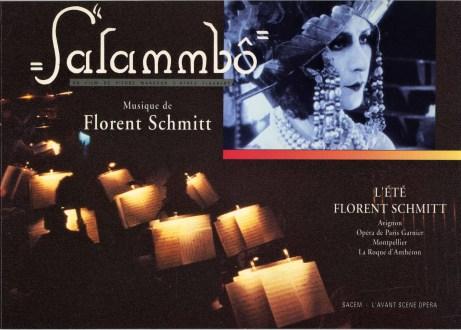 Florent Schmitt Salammbo program book cover 1991