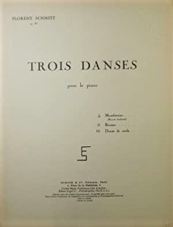 Florent Schmitt Trois danses score cover